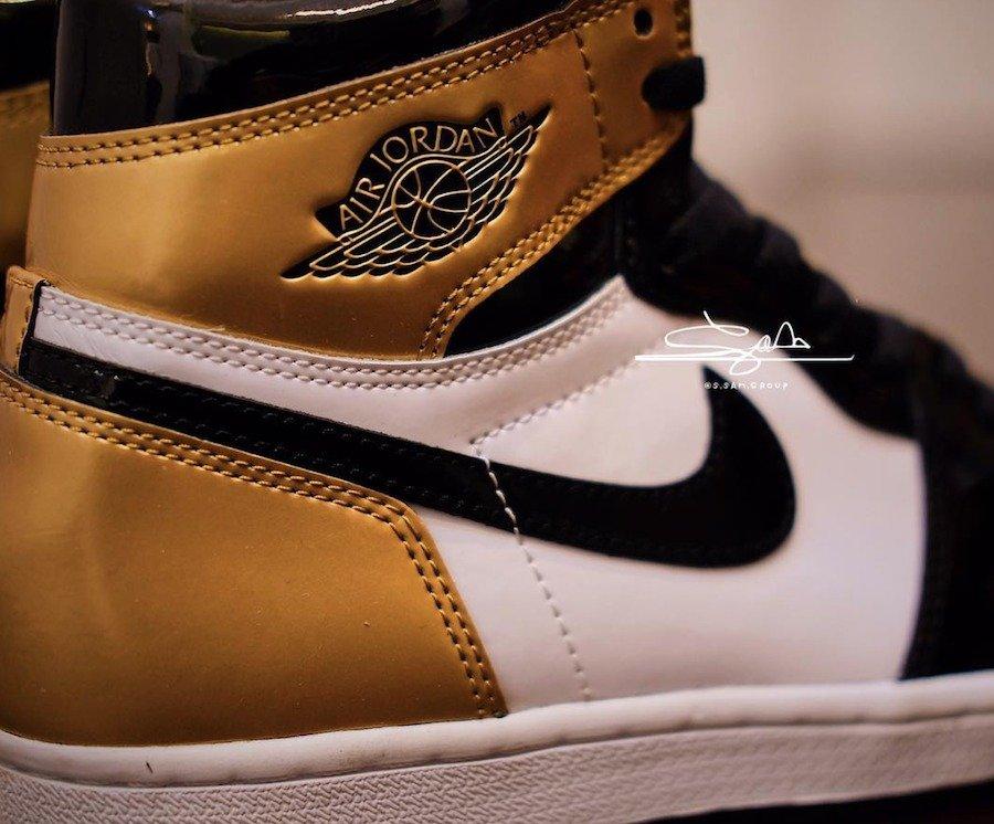 AQ7474-001,AJ1,Air Jordan 1,Go  发售日期曝光!黑金脚趾 Air Jordan 1 有望下月登场