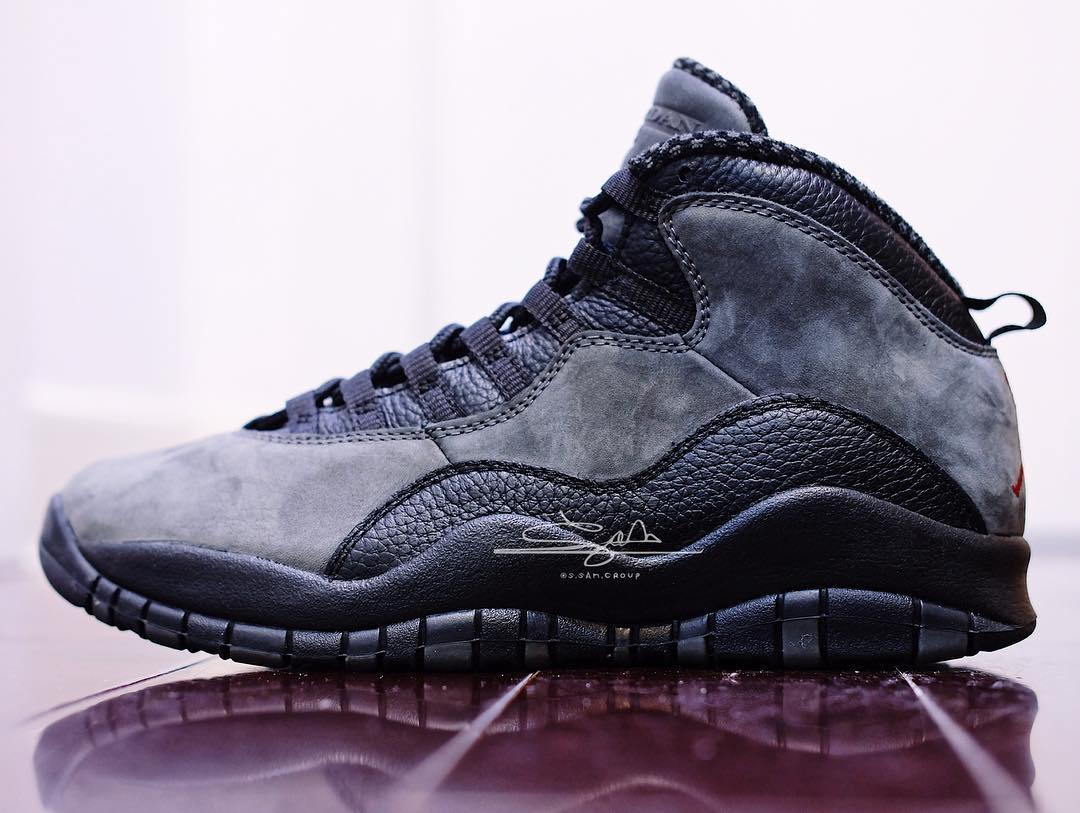 "Air Jordan 10,Dark Shadow,AJ10  沉稳又百搭!Air Jordan 10 ""Dark Shadow"" 实物首次曝光"