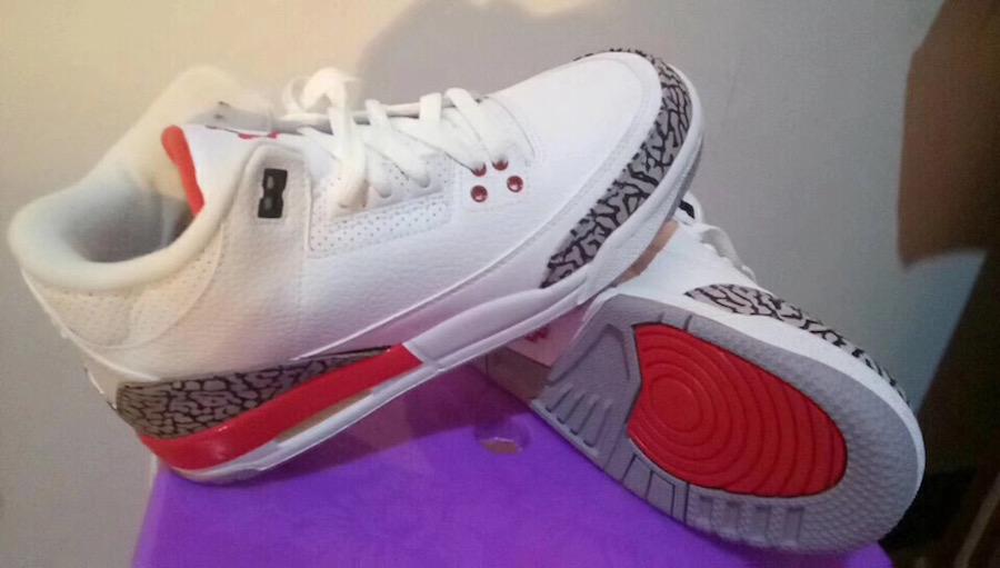 "AJ3,Air Jordan 3,136064-116  首次市售飓风配色!Air Jordan 3 ""Katrina"" 实物图曝光!"