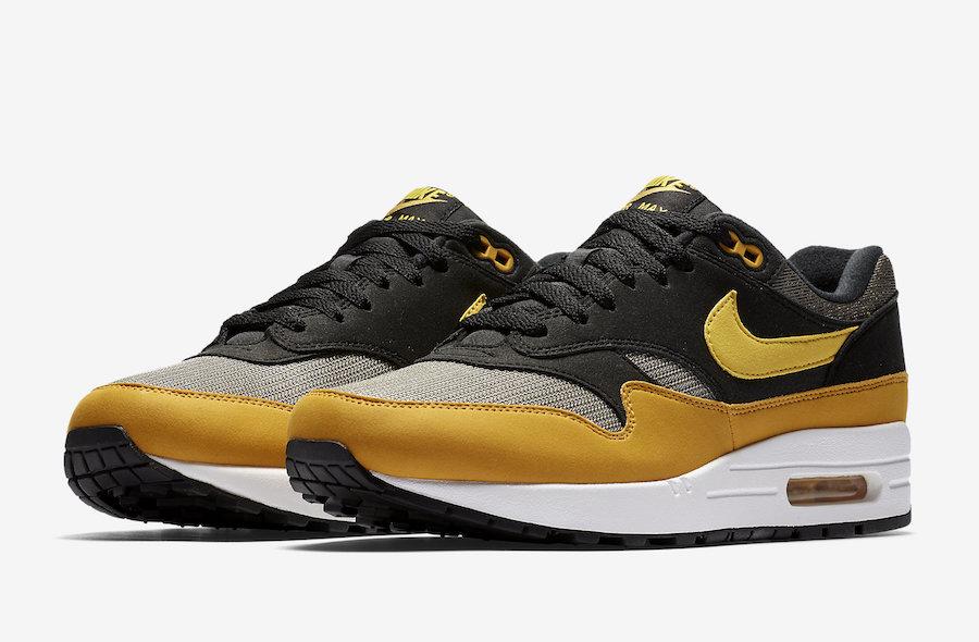 Nike,Air Max 1,AH8145-001  百搭黑黄配色!这双 Air Max 1 百搭又不失个性!