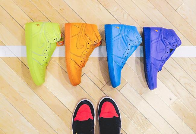 AJ1,Air Jordan 1  货量差距大!四款佳得乐 Air Jordan 1 哪双货量最小?