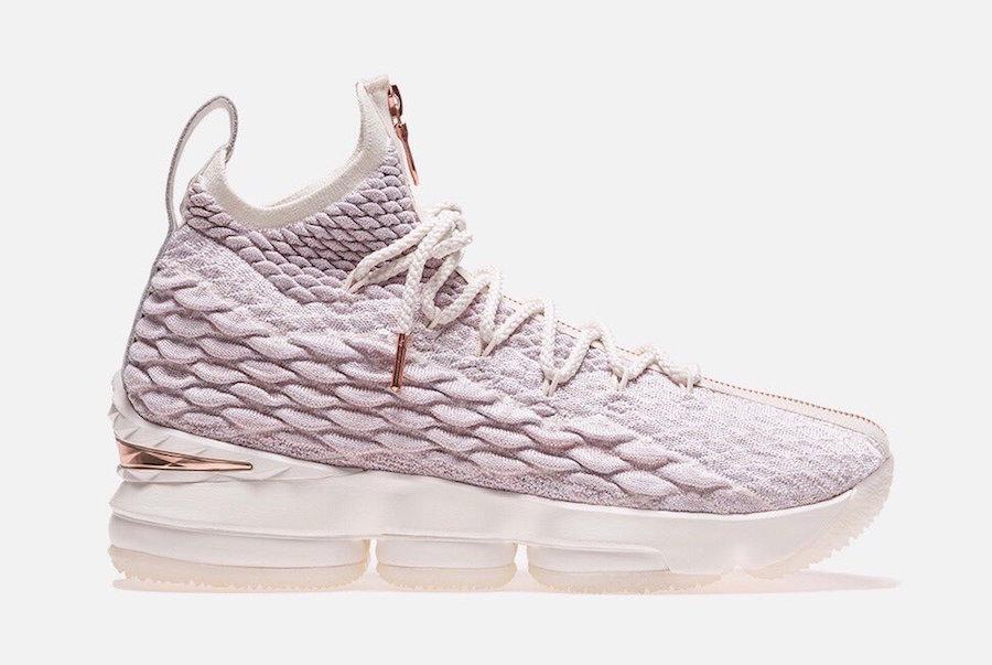 Nike,LeBron 15,KITH  詹皇圣诞战靴!玫瑰金 KITH x LeBron 15 或于近日发售