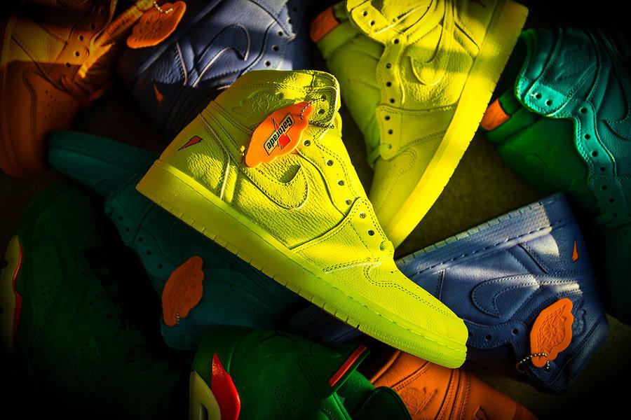 AJ1,Air Jordan 1  提前开箱上脚!色彩缤纷的四双 Air Jordan 1 你选哪双?