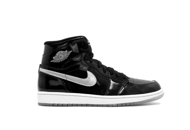 Air Jordan 1,AJ1,861428-007  沉稳的黑灰装扮!又一款漆皮材质 Air Jordan 1 曝光