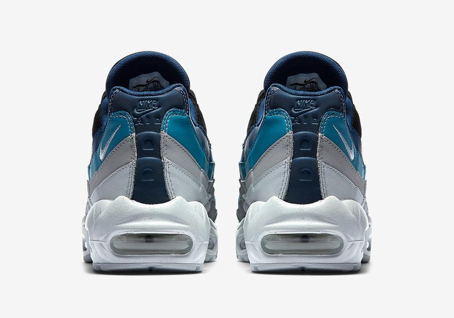 Nike,Air Max 95  过渡蓝色点亮黑白装扮!全新配色 Air Max 95 官图曝光