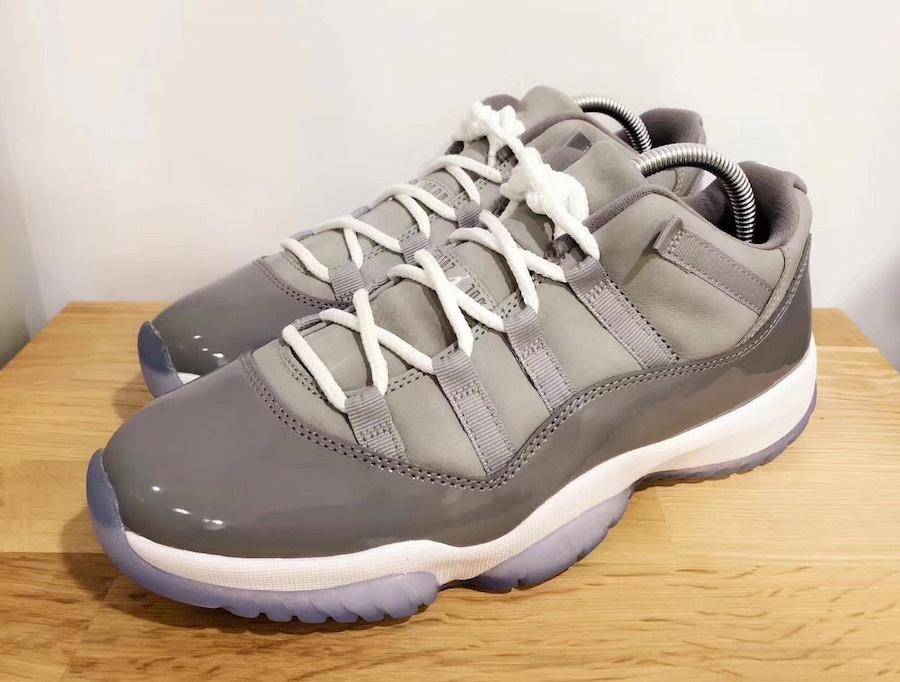 528895-003,AJ11,Air Jordan 11, 528895-003 AJ11 明年 5 月发售,酷灰 Air Jordan 11 Low 细节加料、质感升级!