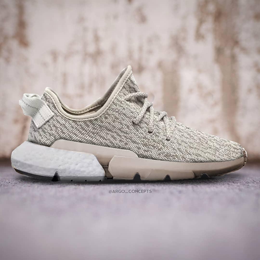 adidas,POD-S3.1,Yeezy  Yeezy 350 初代鞋面!这个 adidas 新品的同人作品,你给打几分?