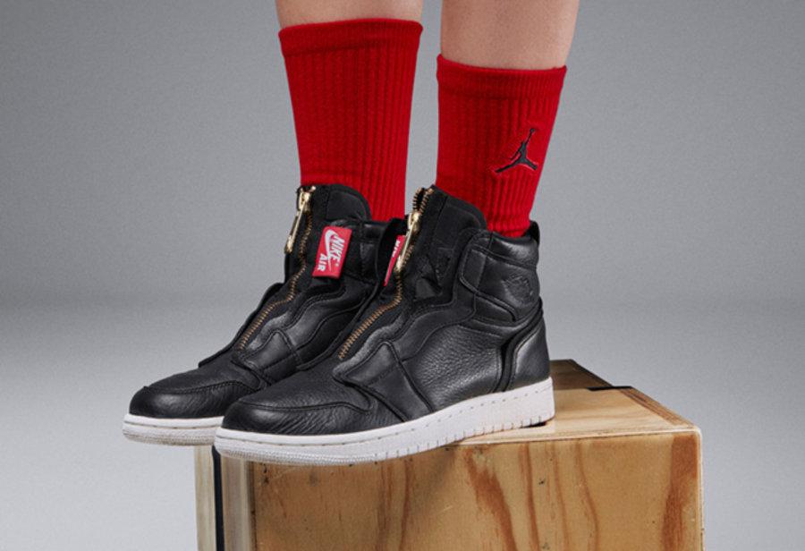 Air Jordan 1,AJ1,  质感皮革 + 拉链设计!女款 Air Jordan 1 Zip 三月发售
