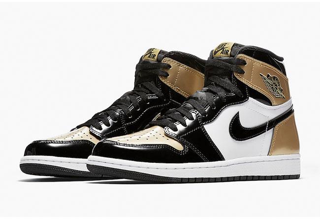 Air Jordan 1,AJ1,861428-007  官网链接已出!黑金脚趾 Air Jordan 1 确定将于本周六发售!