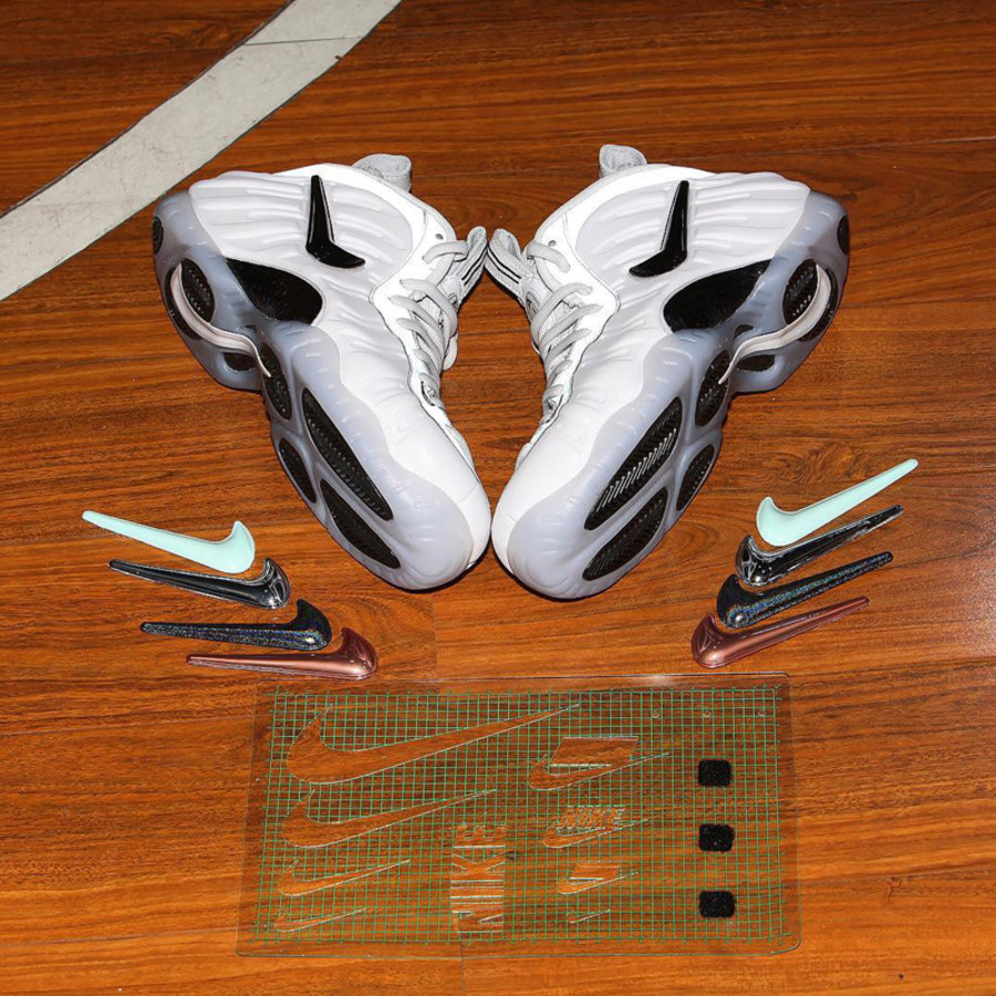 "Nike,Air Foamposite Pro,All-St  下周正式登场!能换勾的 ""全明星泡"" 实物细节近赏"