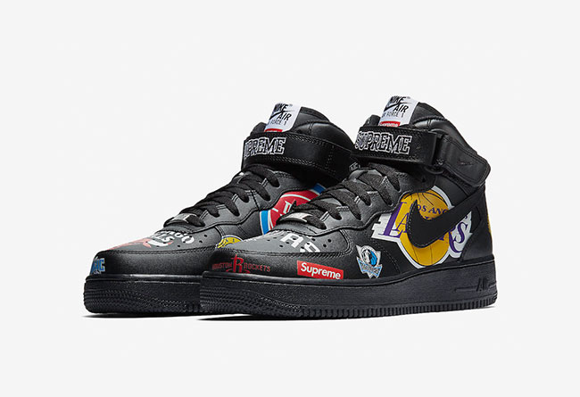 Supreme,Nike,Air Force 1,NBA  官图释出!Supreme x Air Force 1 Mid '07 即将发售