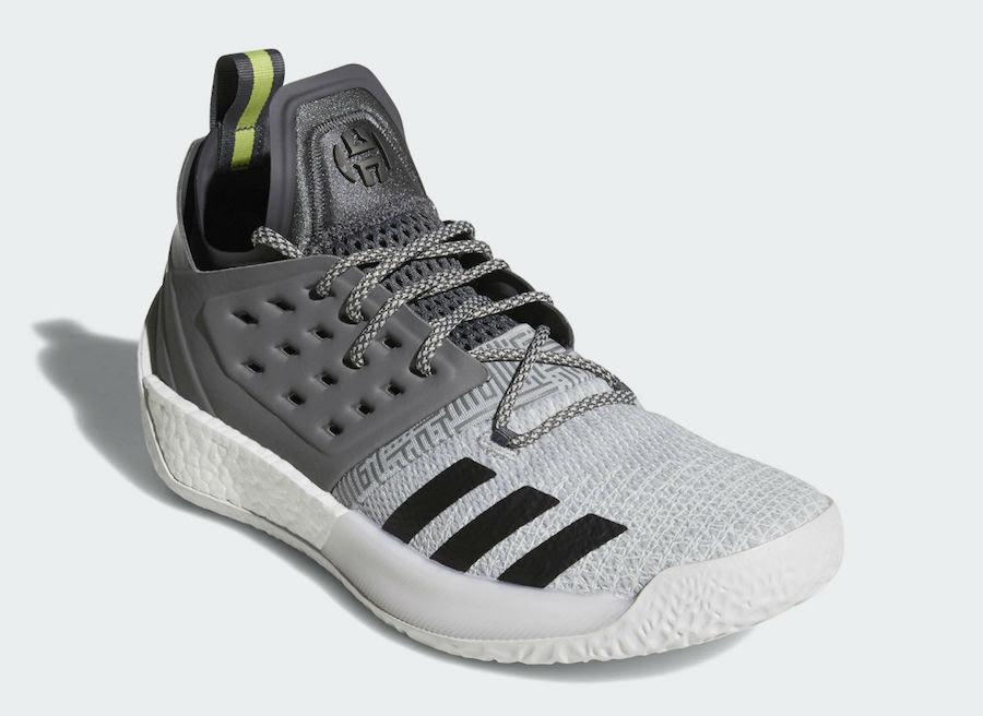 adidas,Harden Vol. 2,AH2122  简约黑白灰!全新配色 Harden Vol. 2 三月正式发售