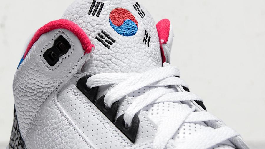 Air Jordan 3,AJ3  奥运会主题为灵感!韩国专属配色 Air Jordan 3 细节曝光
