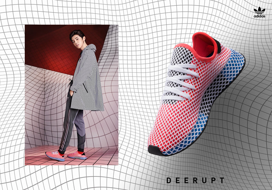 adidas,Deerupt  与众不同的格纹设计!adidas 推出全新 Deerupt 春夏系列!