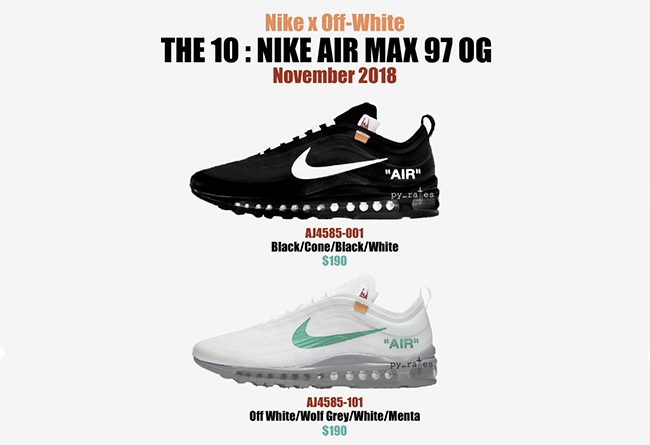 pretty nice cbe9f 5fba4 OFF-WHITE x Air Max 97 Two new color exposures! Will be on ...