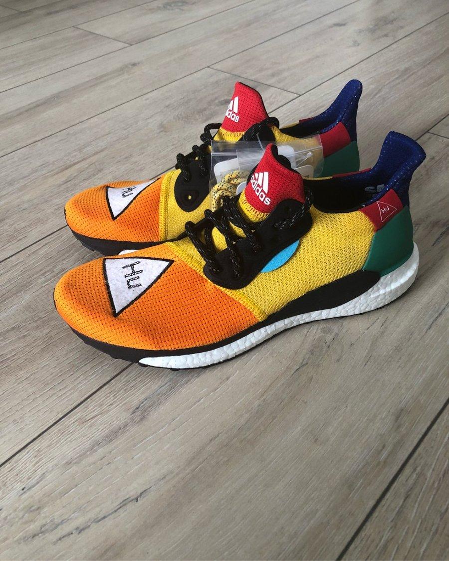adidas,Pharrell,菲董,Solar Hu Gl  菲董联名出新作!Pharrell x Solar Hu Glide ST 实物曝光