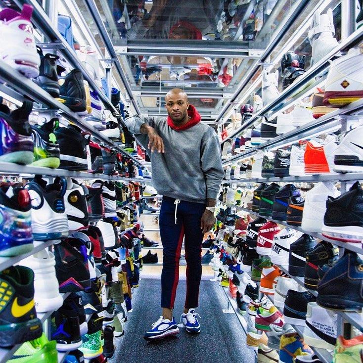 """Nike,AJ,Air Jordan  墙都不扶就服你!鞋王塔克放豪言:""""没有我拿不到的鞋子!"""""""