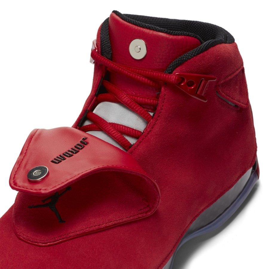 """AJ18,Air Jordan 18,AA2494-601  四月重点鞋款!大红 Air Jordan 18 """"Toro"""" 官图释出"""