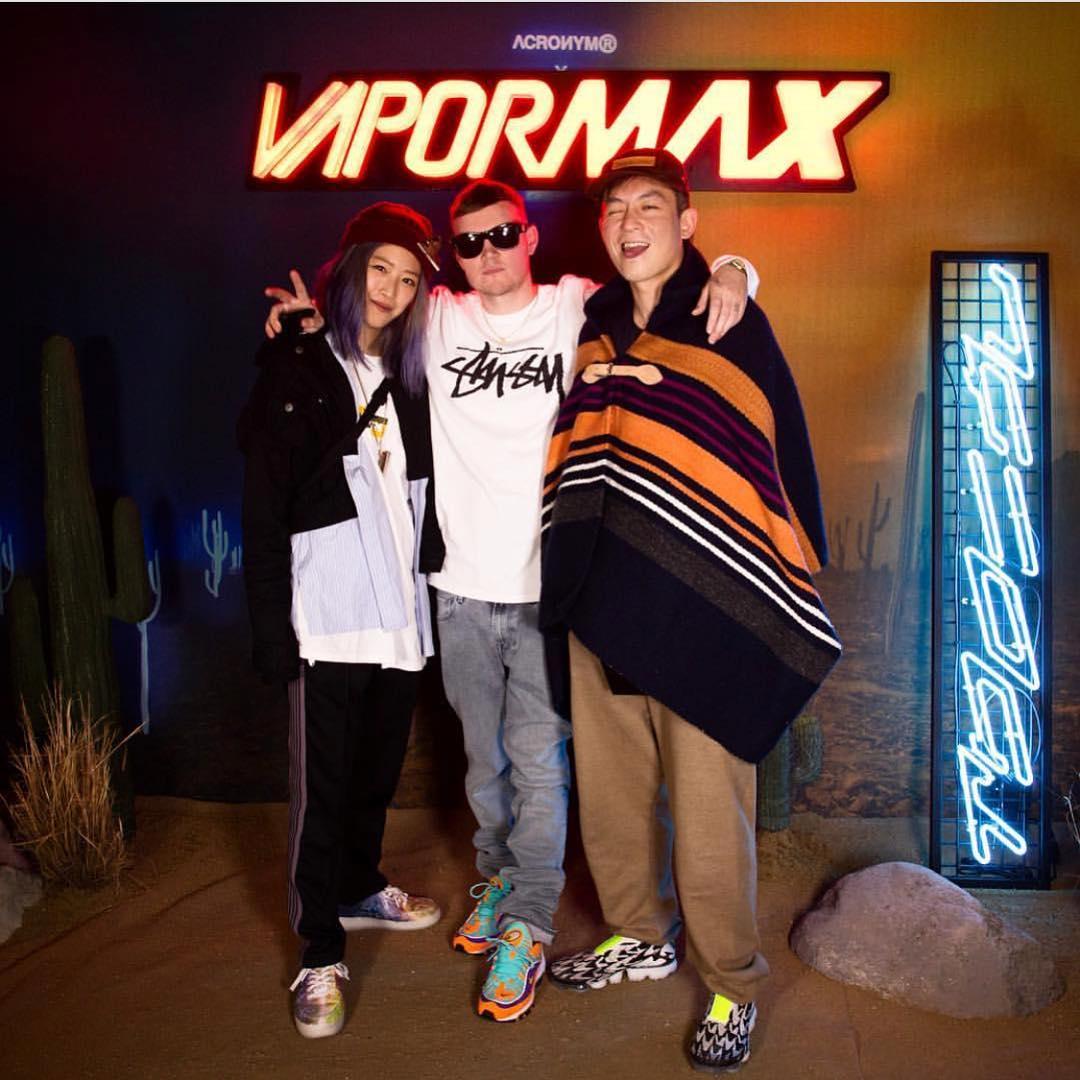 Nike, Air VaporMax  陈冠希与小编同时上脚联名鞋!你觉得谁穿的好看?