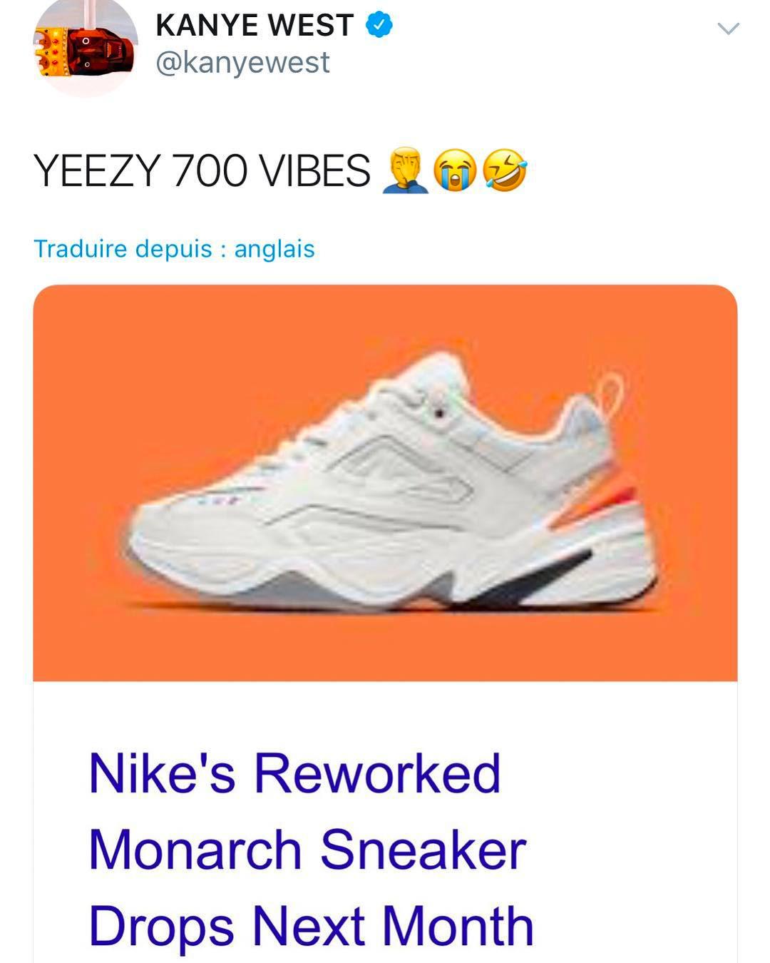 M2K,Nike,AO3108-001 AO3108-001 时隔两年侃爷再发推特,居然是为了怼 Nike?