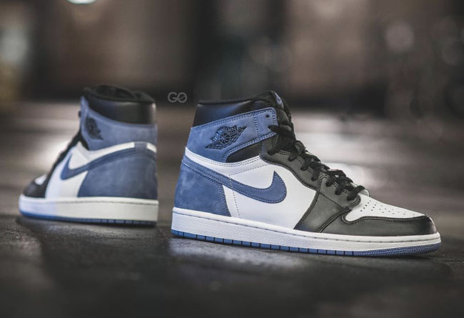 """AJ1,Air Jordan 1,Blue Moon,555  实物上脚抢先看!你们都在等的 """"贪玩蓝月"""" Air Jordan 1"""