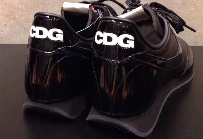 Nike,Night Track,COMME des GAR  CDG 与 Nike 再次联名!纯黑配色渲染复古鞋型!