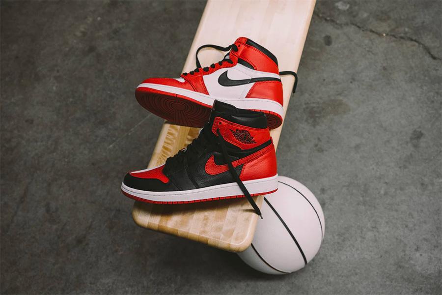 "AJ1,Air Jordan 1  带编号 VS 无编号,看看两种 Air Jordan 1 ""Homage To Home"" 实物美图对比"