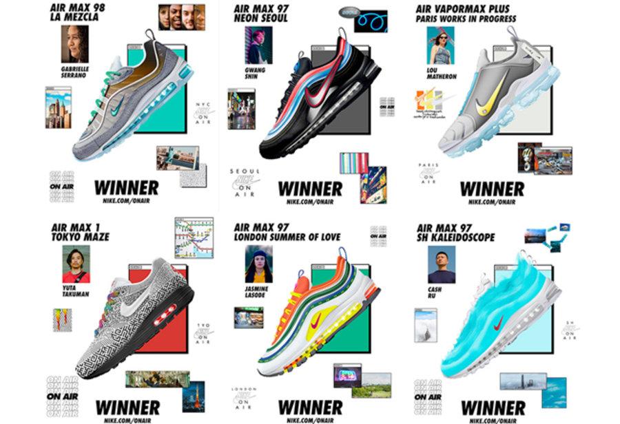 """Nike,Air Max 98,Air Max 97,Air  六款优胜设计!Nike """"On Air"""" 球鞋设计比赛票选结果出炉"""
