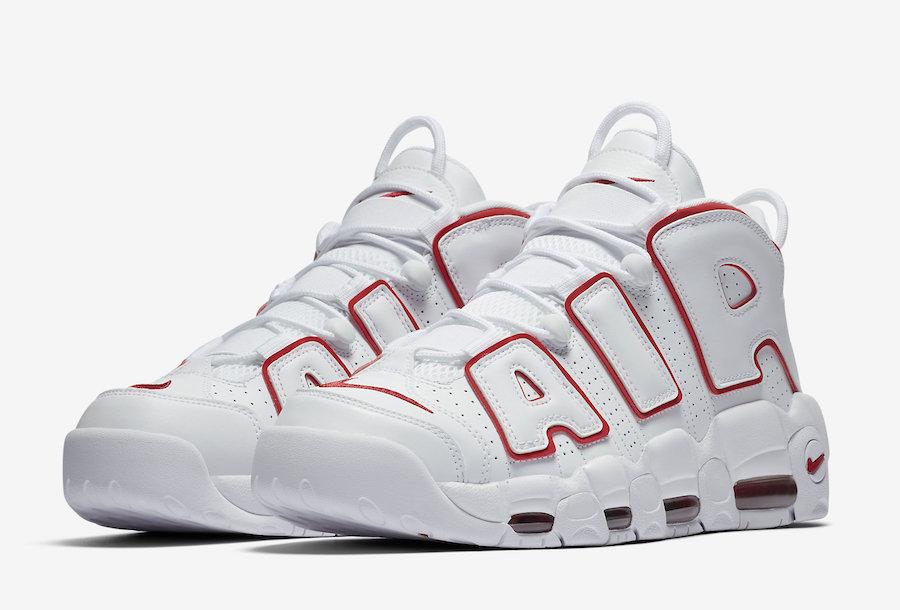 "Nike,Air More Uptempo,921948-1  颜值高更简约!白红配色 ""大 AIR"" 下周发售"