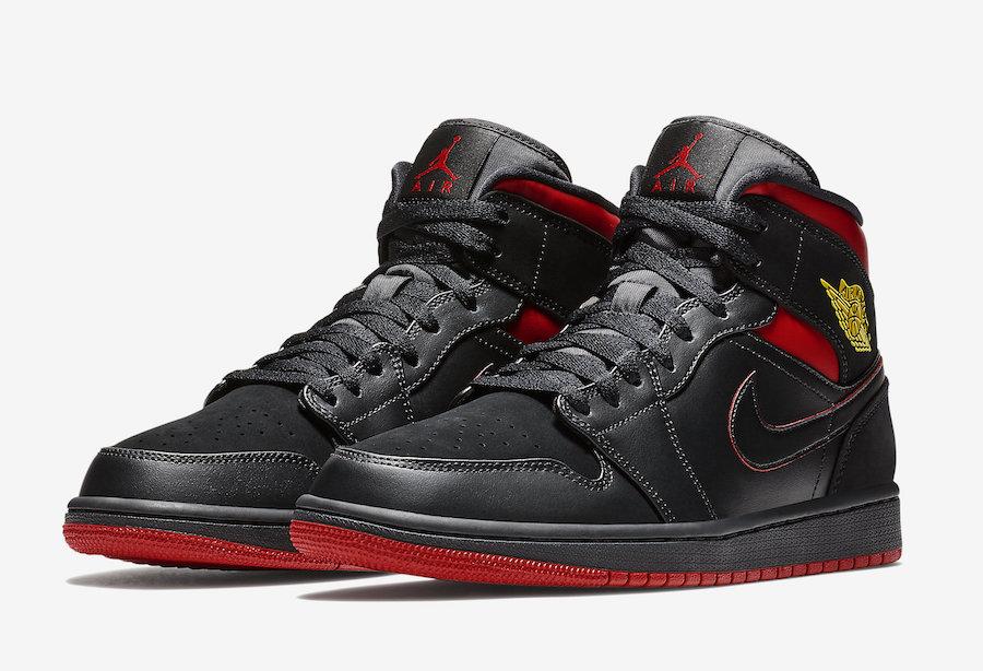 "AJ1,Air Jordan 1,Air Jordan 1 554724-076 AJ1 迷人的黑红!""最后一投"" 配色 Air Jordan 1 Mid 即将发售"