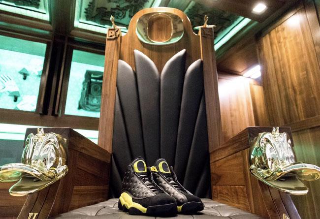 Air Jordan 13,AJ13,PE,Oregon D  比稀有 AJ13 更震撼的,是这张俄勒冈鸭队的霸气座椅!