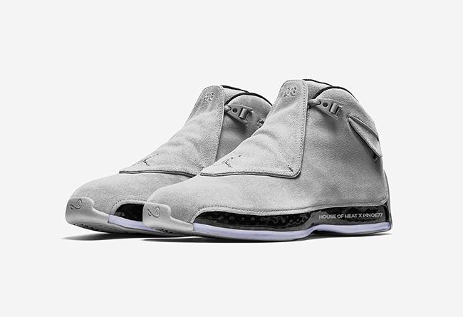 AJ18,Air Jordan 18,发售  简约浅灰麂皮!全新 Air Jordan 18 十一月正式发售
