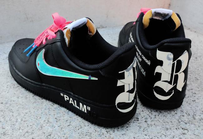Nike,Palm Angels,Air Force 1  比 OFF-WHITE 联名更特别!定制 Palm Angels x AF1 实物曝光