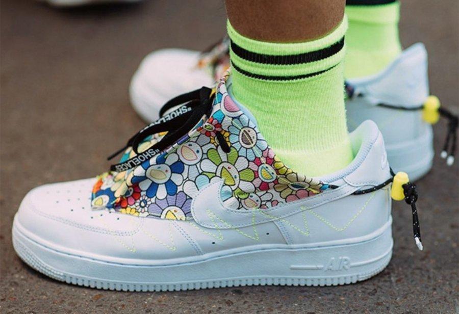 Nike,Air Force 1,上脚  专为村上隆打造!太阳花 Air Force 1 亮相巴黎时装周