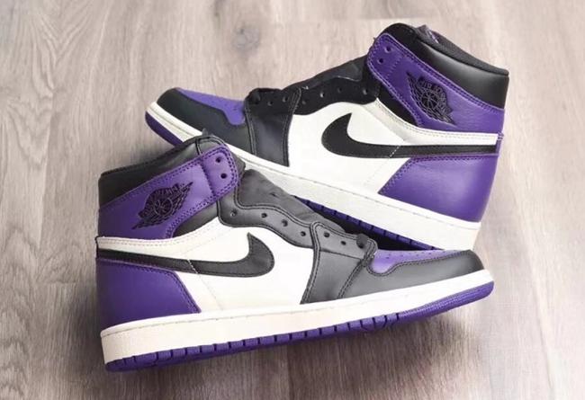 黑紫脚趾来了 Air Jordan 1 Court Purple 实物细节图赏