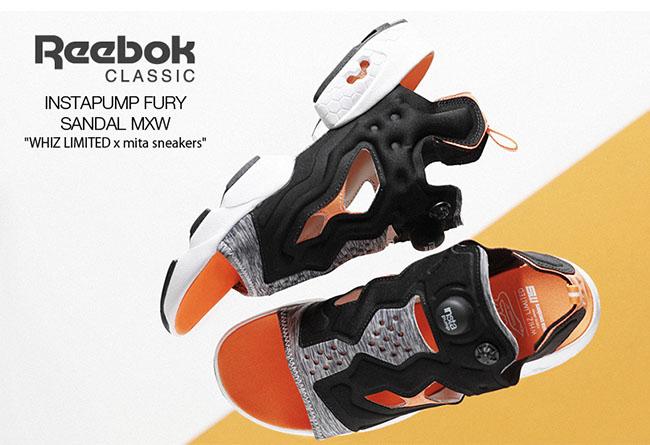 "mita sneakers,WHIZ LIMITED,Ree  今夏最 ""搞怪"" 拖鞋诞生!Reebok 带来三方联名新品"