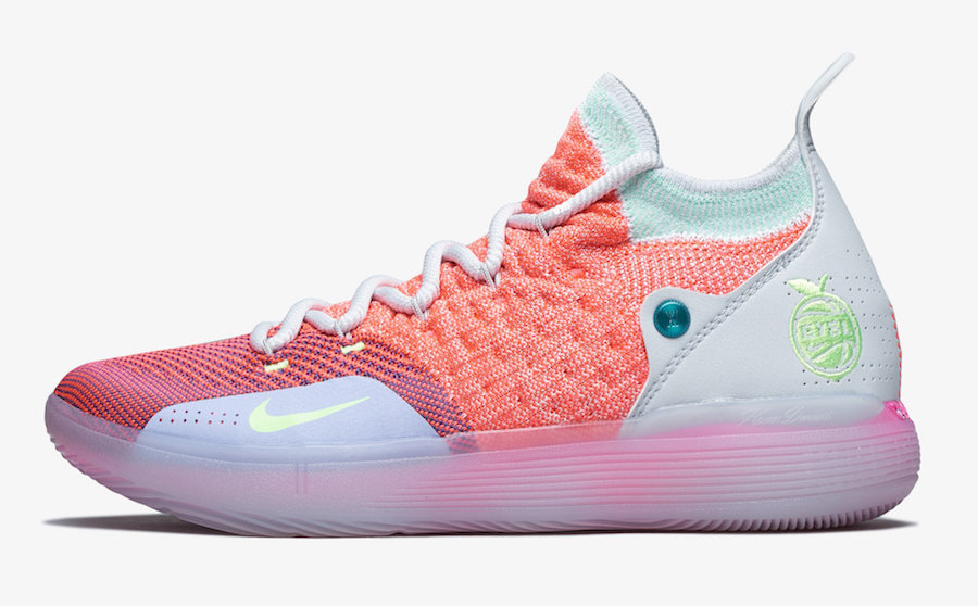 "Nike,KD 11,AO2604-600,发售  粉嫩亮相!Nike KD 11 ""EYBL"" 下周发售"