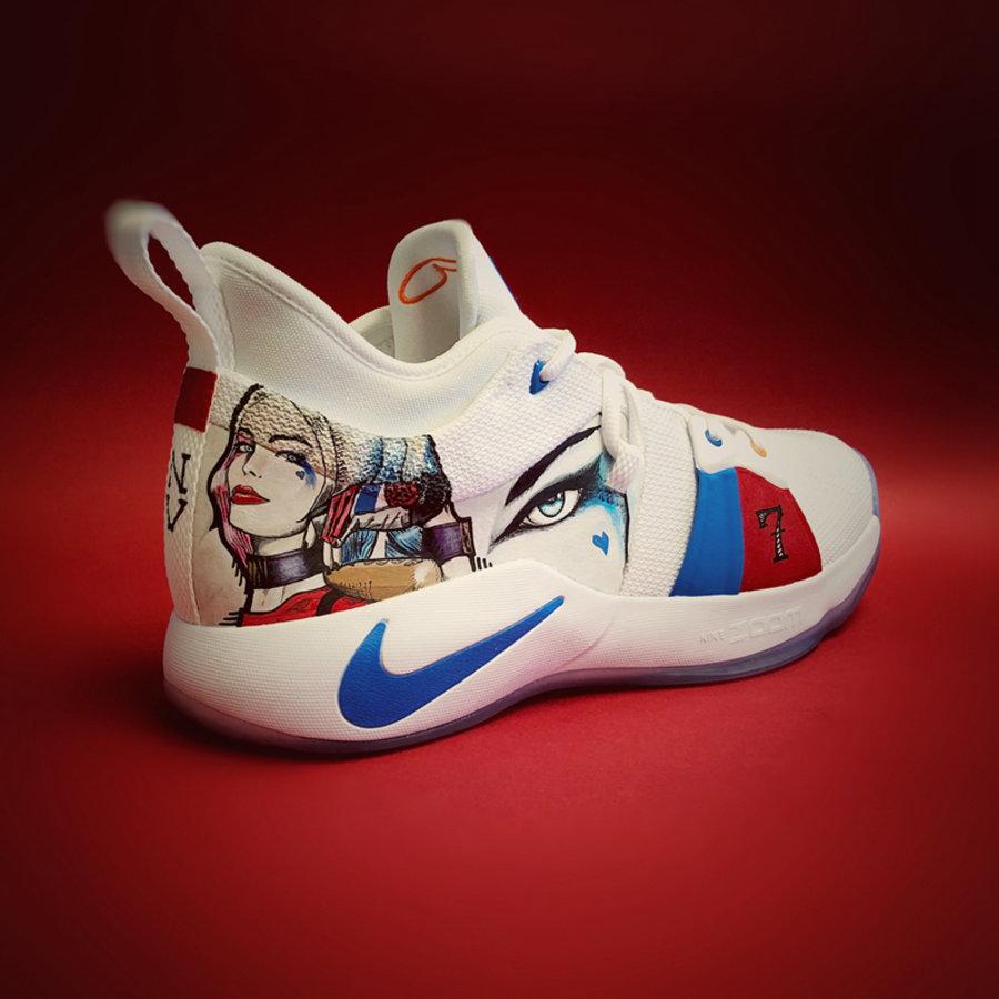 Nike,PG2,球鞋定制  可爱又迷人的反派角色!PG2 小丑女定制版欣赏