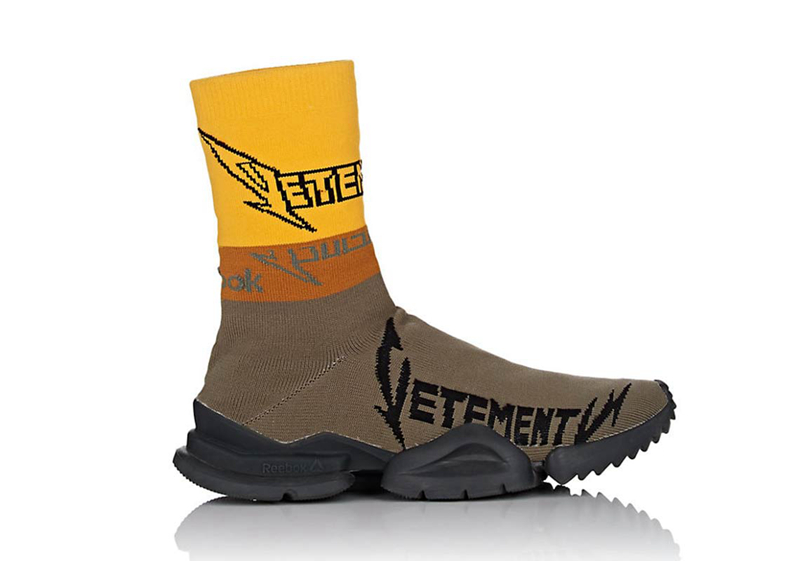 Reebok,Vetements,Sock Runner,發 搖滾字型風格! Vetements 再度聯手 Reebok 推出 Sock Runner 鞋款