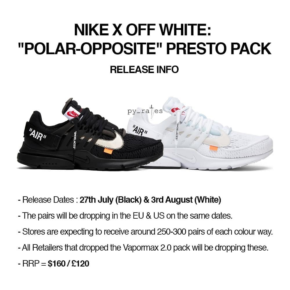 OFF-WHITE,Nike,Air Presto,AA38  历史最大货量?OFF-WHITE x Air Presto 本月底正式发售