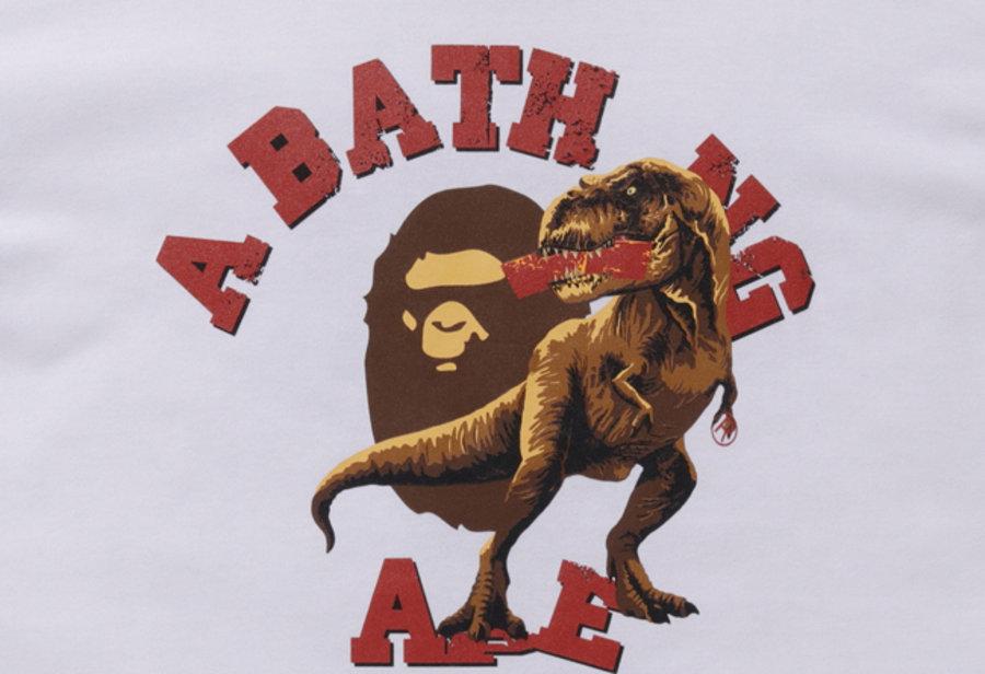 BAPE  恐龙猿人!BAPE x《侏罗纪世界》 全新联名系列正式发布!