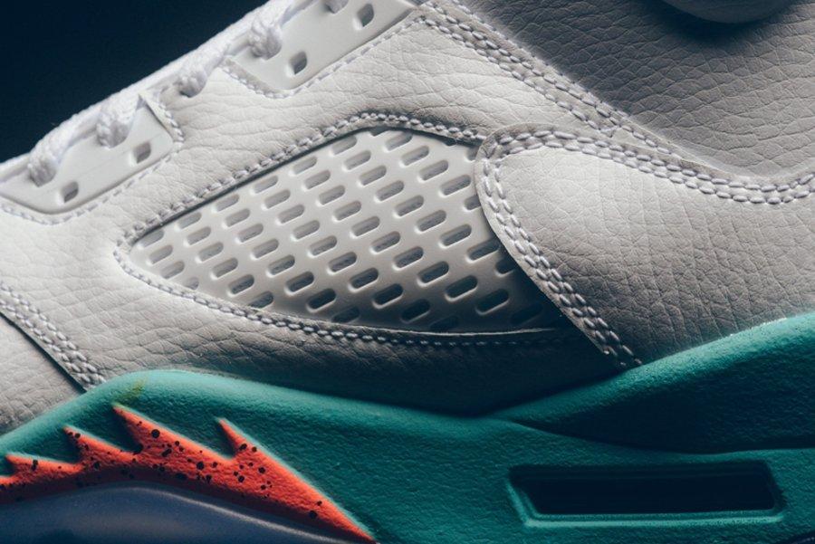 """Air Jordan 5,AJ5,Nike,发售  实物美如画!Air Jordan 5 """"Light Aqua"""" 本周发售"""
