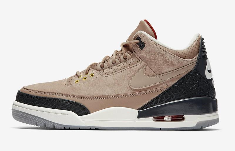 "Nike,Air Jordan 3,JTH,AV6683-2  质感低调出众!贾老板 Air Jordan 3 JTH ""Bio Beige"" 官图释出"