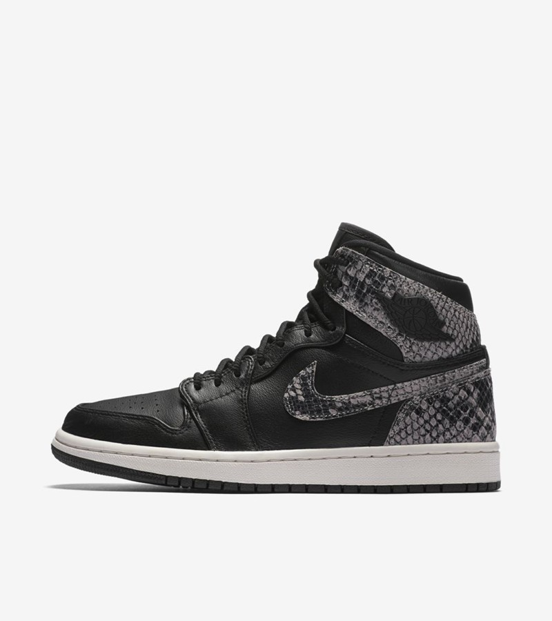 Nike,Air Jordan 1,蛇,AH7389-014  幻影蛇纹来袭!Air Jordan 1 黑蛇配色将于后天发售