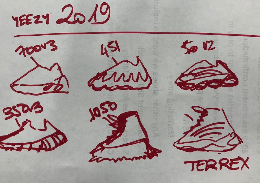 adidas,Yeezy,Kanye West,侃爷  侃爷重量级爆料!明年 Yeezy 系列竟然要带来 7 双新鞋型!