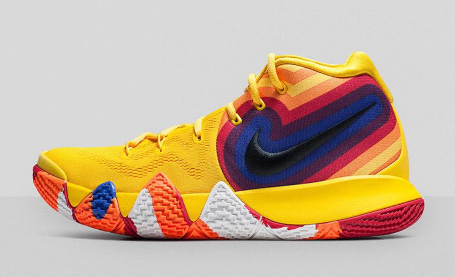 "Nike,Kyrie 4,发售,943807-700,943  极具年代感的设计!Kyrie 4 ""Decades Pack"" 本月发售"