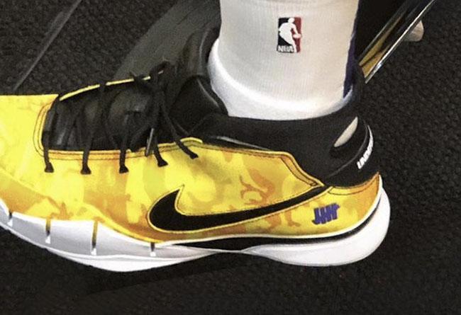Nike,勒布朗,Undefeated,Kobe 1 Pro  美炸!詹姆斯上脚湖人配色 UNDEFEATED x Kobe 1 联名!