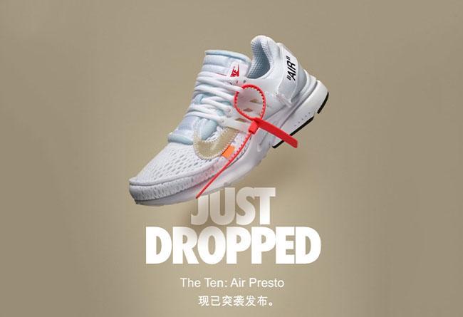 OFF-WHITE,Nike,Air Presto,突击发售  今早突击发售!白色 OFF-WHITE x Air Presto 你抢到了么?