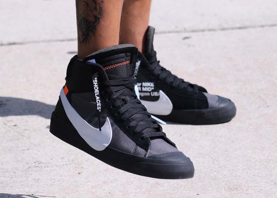 OFF-WHITE,Nike,Blazer,Grim Rea  超高人气联名!OW x Blazer 全新配色实物上脚美图欣赏