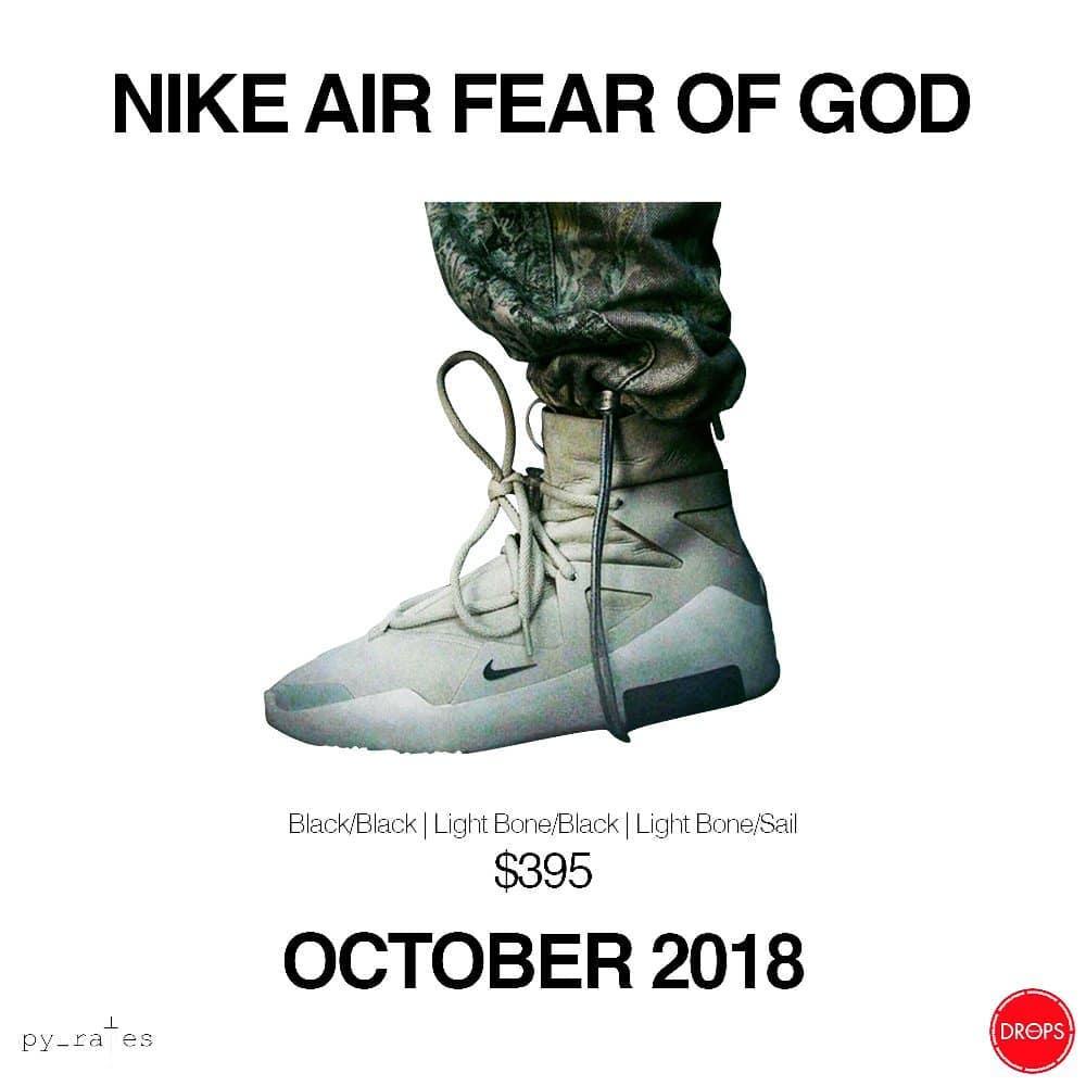 Fear of God,Nike,发售,Jerry Lore  高级街头风与运动机能完美结合!Fear of God x Nike 全新鞋款曝光